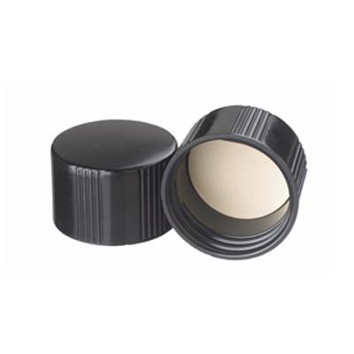WHEATON® 38-430 Black Phenolic Caps, White Rubber Liner, case/ 200