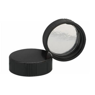 WHEATON(R) 38-430 Black Phenolic Caps, Foil Liner, case/200