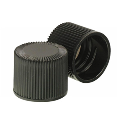 WHEATON® 18-415 Black Phenolic Caps, Caps, PTFE Liner, case/200