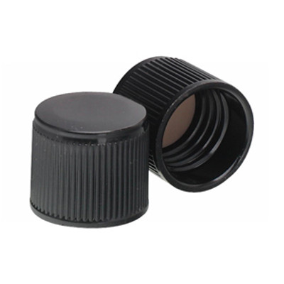 WHEATON® 15-415 Black Phenolic Caps, Cap, PTFE Liner, case/200
