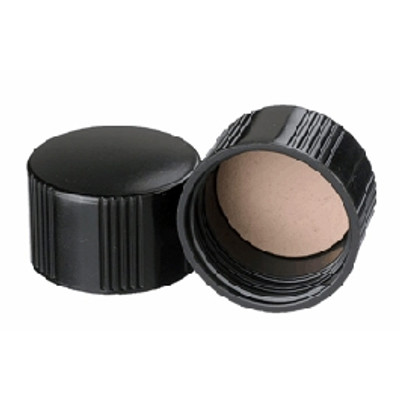 WHEATON® 33-430 Black Phenolic Caps, PTFE Liner, case/100