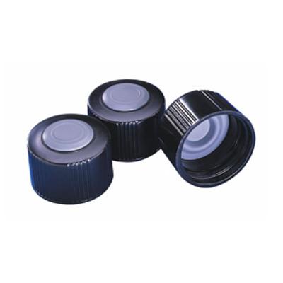 WHEATON® 33-430 Black Phenolic Caps, Hole Cap, Butyl Septa, case/100