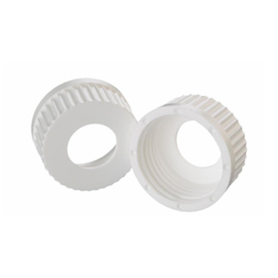 WHEATON® 45mm PP Caps, White, 25mm Center Hole, case/12