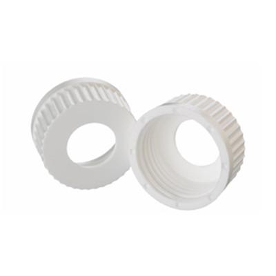 WHEATON(R) 45mm PP Caps, White, 25mm Center Hole, case/12