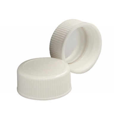 WHEATON® 22-400 Caps, White Polypropylene, Foil Liner, case/1000