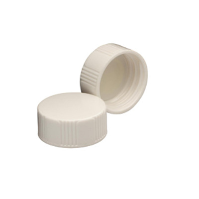 WHEATON® 22-400 Caps, White Thermoset with Polyethylene Disc, case/1000