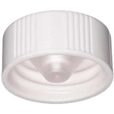 WHEATON® 22-400 Caps, White Thermoset with Cone-Shaped Insert, case/1000