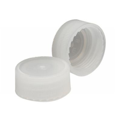 WHEATON® 22-400 Caps, Natural Polyethylene, Unlined, case/1000