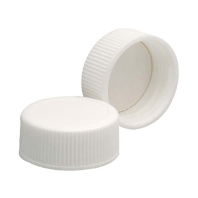WHEATON® 24-400 Polypropylene Caps, White, Foamed Poly Liner, case/200