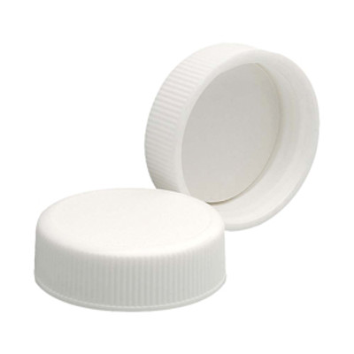 WHEATON® 24-410 Polypropylene Caps, White, Foamed Poly Liner, case/200