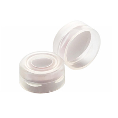 WHEATON® 11mm Autosampler Snap Cap, Clear, PTFE Liner, case/1000