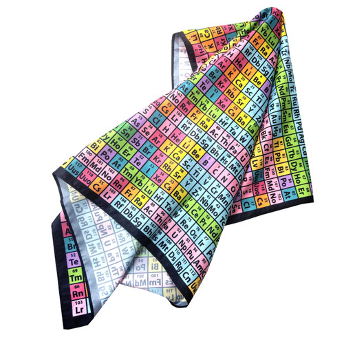 Silk Scarf, Periodic Table of Elements Rainbow