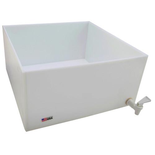 "Dispensing Lab Tray with Spigot, HDPE, 33 Liter, 16 x 16 x 8"""