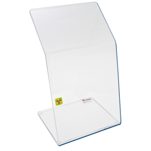 Bench Top Dual-Bend Beta Radiation Protection Shield, 9 x 15""