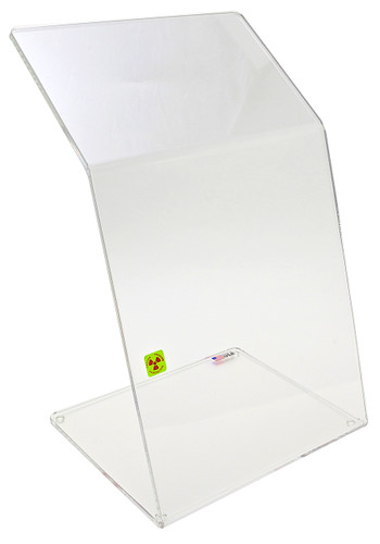 """Bench Top Dual-Bend Beta Radiation Protection Shield, 10 x 18"""""""