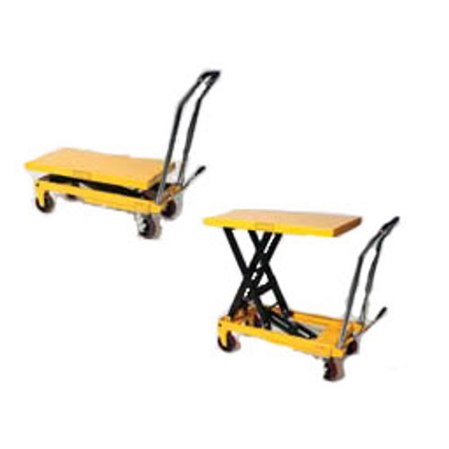 2200 Lb Capacity Heavy Duty Scissors Lift Table With Chrome Plated Handle And Foot Pedal