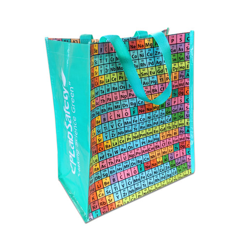 Rainbow Periodic Table of Elements Reusable Tote Bag, pack/10
