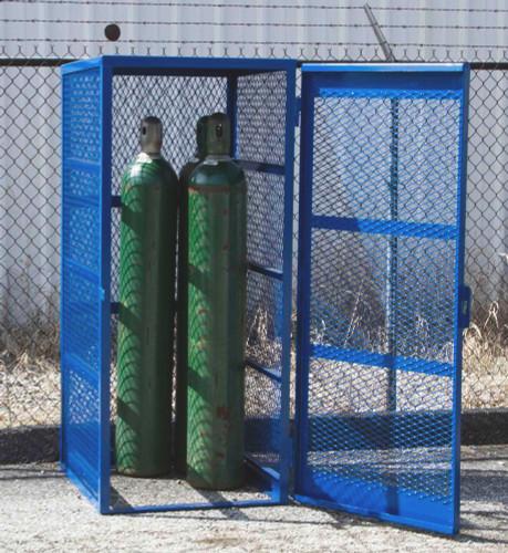 Gas Bottle & Cylinder Storage Cage, Single Vertical, 5-10 Cylinders