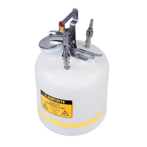 Justrite Safety Can, 5 gal Centura Quick-Disconnect, SS Fittings
