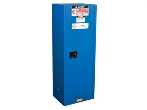 Justrite Slimline HazMat Safety Cabinet, Self-close Door, 22 Gal Ex
