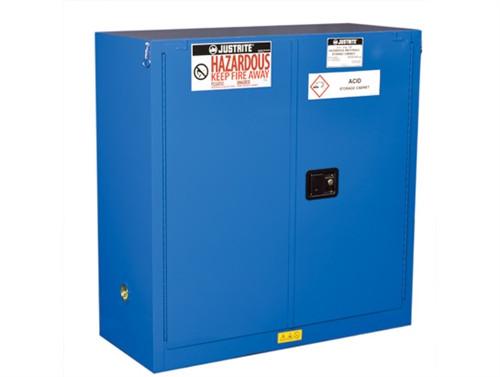 Justrite 863028 HazMat Safety Cabinet, Self Closing, 30 Gal, Sure-Grip