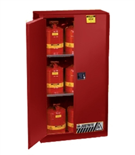 Justrite 896081 Flammable Safety Storage Cabinet, 60 gal ...