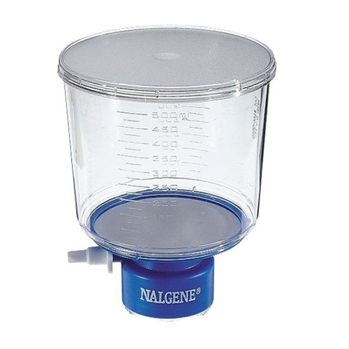 Nalgene 500mL Rapid-Flow Bottles Top Filter 0.45um, PES, 45mm neck, case/12