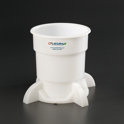 Secondary liquid waste container with base for Nalgene 4 Liter bottle
