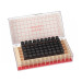 WHEATON® 2mL Amber Vials File, 8-425, Rubber Lined, case/60