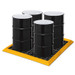 """Eagle® 4-Drum SpillNest Spill Containment with Grates, 57.75"""", 30 Gal, Yellow"""