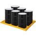 "Eagle® 6-Drum SpillNest Spill Containment, 57.5"" x 83"", 45 Gal, Yellow"