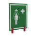 Justrite® Universal Safety Shower Sign With Brackets, Outdoor Showers With Insulation
