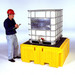 Single IBC Tote Spill Pallet Plus, Poly Spill Containment