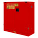 FM Approved, Flammable Storage Cabinet, 30 Gallon, 2 Doors, Self Close, 1 Shelf, Red