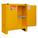 FM Approved, Flammable Storage Cabinet with Legs, 30 Gallon, 2 Doors, Self Close, 1 Shelf, Safety Yellow