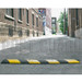 """4' L x 12"""" W x 3"""" H Alley Speed Bump Black with Yellow"""