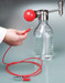Media Bottle Solvent Pump, Stainless Steel and PTFE, GL45