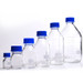 Glass Media Bottles, 250mL, GL-45, Blue Caps, Schott, case/10