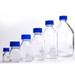 Glass Media Bottles, 250mL, GL-45, Blue Caps, Schott, case/10