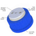 """2-Port Cap, GL-45 for 3/16"""" tubing, Air inlet valve for Solvent Delivery"""
