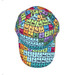 Periodic Table of elements baseball cap - top view