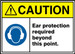 "ANSI ISO Safety Sign - CAUTION: Ear Protection Required Beyond This Point., 10"" x 14"", Pack/10"