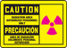 """Bilingual OSHA Safety Sign - CAUTION: Radiation Area - Authorized Personnel Only, 10"""" x 14"""", Pack/10"""