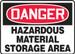 "OSHA DANGER Sign: Hazardous Material Storage Area, 10 x 14"", Each"