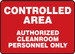 "Clean Room Signs Safety Sign: Controlled Area Authorized Cleanroom Personnel Only, 10"" x 14"", Pack/10"