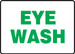 """Safety Signs: Eye Wash, 10"""" x 14"""", Pack/10"""