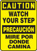 "Bilingual OSHA Safety Sign - CAUTION: Watch Your Step, 14"" x 10"", Pack/10"
