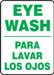 """Bilingual Safety Sign-Eye Wash, 14 x 10"""", Each"""