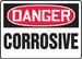 "OSHA Safety Sign - DANGER: Corrosive, 14"" x 20"", Pack/10"