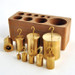 Hooked Double-Ended Brass Weight Set, 10-1000 grams, Set of 9